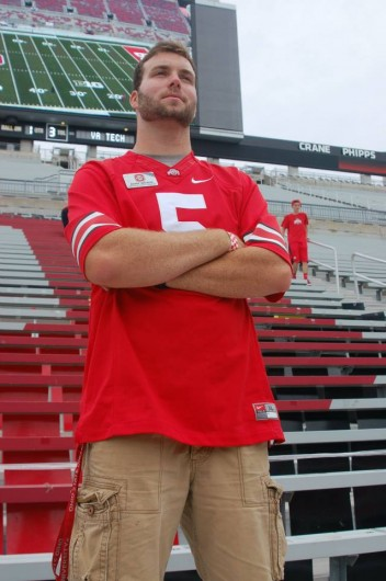 """Adam Watson, a second-year in finance, is the director of football operations for Block """"O."""""""