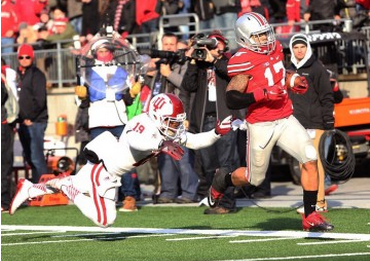 Jalin Marshall's 4 touchdowns spark second-half comeback as Ohio State defeats Indiana, 42-27