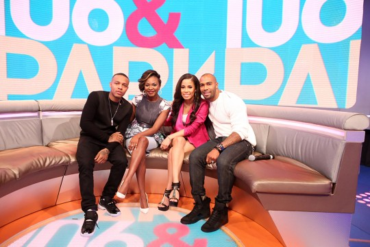 Bow Wow, Naturi Naughton, Keshia Chante, and Omari Hardwick attend 106 & Park at BET studio on June 2, 2014 in New York City.   Credit: Courtesy of BET
