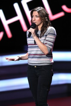"Comedian Chelsea Peretti performs onstage on the 15th season of ""Comedy Central Presents"" at John Jay College, October 16th, 2010 in New York City. Credit: Courtesy of Dario Cantatore"