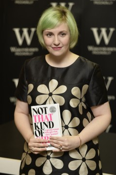 Actress and writer Lena Dunham launches her new book 'Not that kind of Girl' at Waterstones Piccadilly in London on Oct. 29. Credit: Courtesy of TNS
