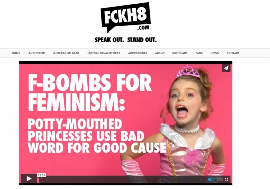 The F-Bombs for Feminism video on the FCKH8 website Credit: Screenshot of FCKH8.com