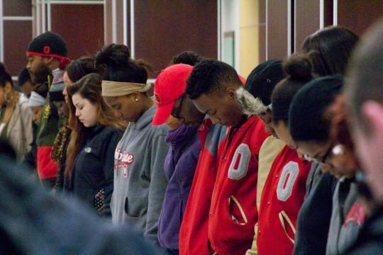 Gallery: Ferguson prayer vigil held at Ohio Union