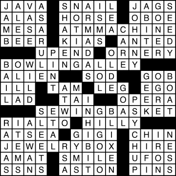 Crossword Solutions 11/24