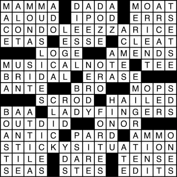 Crossword Solutions 12/08