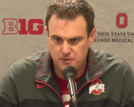 Ohio State co-offensive coordinator and quarterbacks coach Tom Herman Credit: Hayden Grove / Lantern TV Sports director