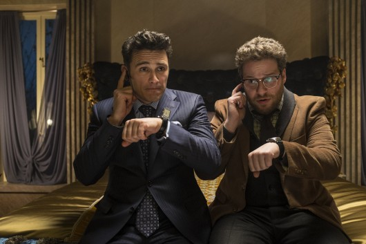 James Franco (left) and Seth Rogen in a scene from 'The Interview.'  Credit: Courtesy of TNS