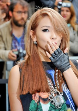 Singer Lee Chae-rin, also known as CL, arriving to the Chanel Haute-Couture Fall-Winter 2014-2015 fashion show held at the Grand Palais, in Paris, France, on July 8. Credit: Courtesy of TNS