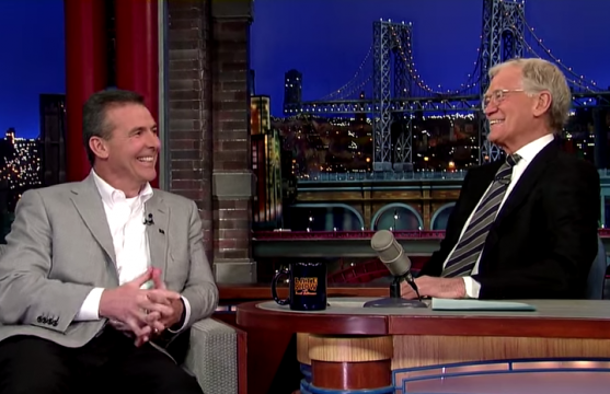 OSU football coach Urban Meyer appeared on 'Late Show' with David Letterman Friday. Credit: Screenshot of CBS.