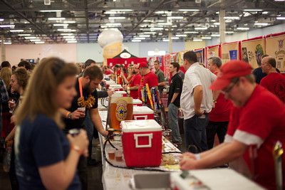 Vendors serve beer to attendees at a past Columbus Beerfest. Credit: Courtesy of Craig Johnson