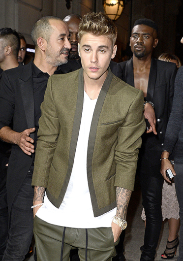 Justin Bieber attends CR Fashion Book Number 5 Launch Party on Oct. 1 In Paris. Credit: Courtesy of TNS