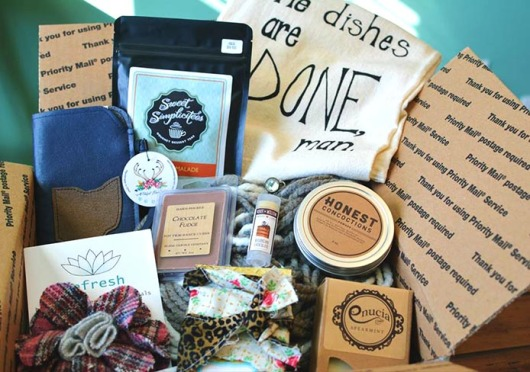 Modest Box is a subscription service that mails goods from local, 'modest' companies in a package. Credit: Courtesy of Andrea Archibald