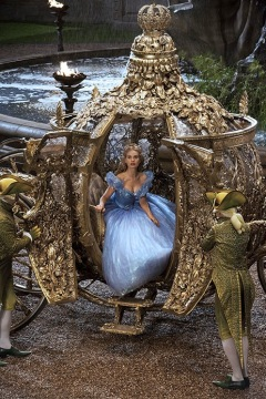 Lily James is Cinderella in Disney's live-action feature inspired by the classic fairy tale which brings to life the images in Disney's 1950 animated movie. Credit: Courtesy of Walt Disney Studios