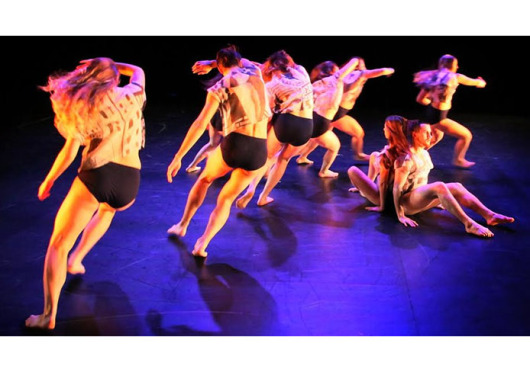 Dancers prepare for 'Inflecting Space' at a Wednesday dress rehearsal. Credit: Courtesy of Jess Cavender