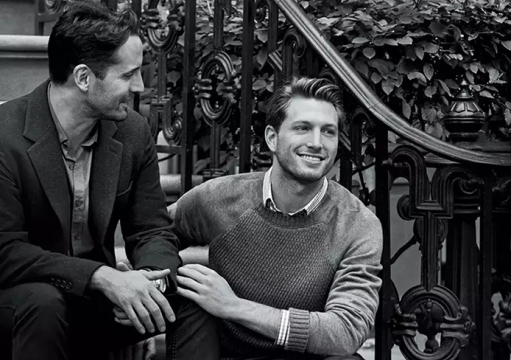 One photo in a series of engagement ads by Tiffany & Co. featured a gay couple. Credit: Tiffany & Co.