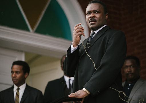 'Selma' is up for Best Picture in 87th Academy Awards. From left, Andrew Holland plays Andrew Young, David Oyelowo plays Dr. Martin Luther King, Jr., and Wendell Pierce plays Rev. Hosea Williams in 'Selma' from Paramount Pictures, Pathe, and Harpo Films.  Credit: Courtesy of TNS.