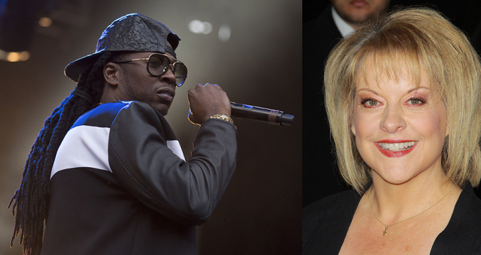 2 Chainz and Nancy Grace participated in a debate about marijuana legalization earlier this month. Credit: Courtesy of TNS.
