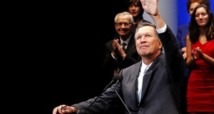 Gov. John Kasich speaks at his inauguration ceremony on Jan. 12 at the Southern Theatre in Columbus.  Credit: Jon McAllister