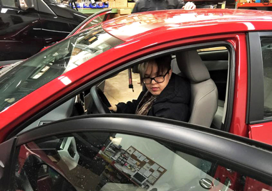 Lantern reporter Sallee Ann Ruibal learns to drive at 19 years old. Credit: Courtesy of Sallee Ann Ruibal
