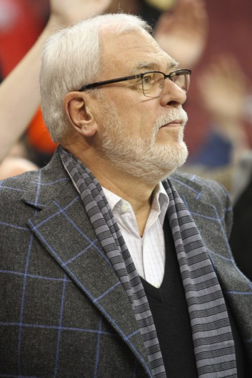 New York Knicks president Phil Jackson was at the Schottenstein Center on Feb. 26 to watch OSU beat Nebraska, 81-57. Jackson could be facing a fine from the NBA for comments about OSU freshman guard D'Angelo Russell. Credit: Samantha Hollingshead / Lantern photographer