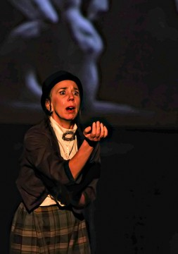 "Actress Christina Kirk acts out her role as Old Claudel in ""Claudel,"" set to be performed Friday and Saturday at Columbus Dance Theatre. Credit: Courtesy of John Ray"