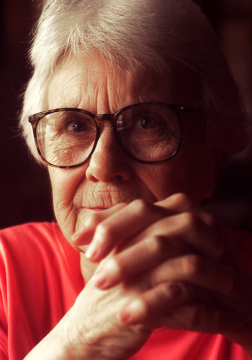 "In an August 31, 2001, file image at the Stage Coach Cafe in Stockton, Ala., the author Harper Lee, who wrote ""To Kill a Mockingbird."" A recently-discovered sequel, ""Go Set a Watchman,"" is due to be published in July 2015. (Terrence Antonio James/Chicago Tribune/TNS)"
