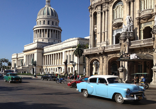 The capitol building of Cuba in Old Havana is seen on April 9, 2012. Credit: Courtesy of TNS