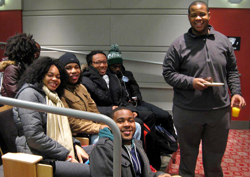 Students participate in a Buckeye Civic Engagement Connection program. Photo courtesy of DaVonti' Haynes