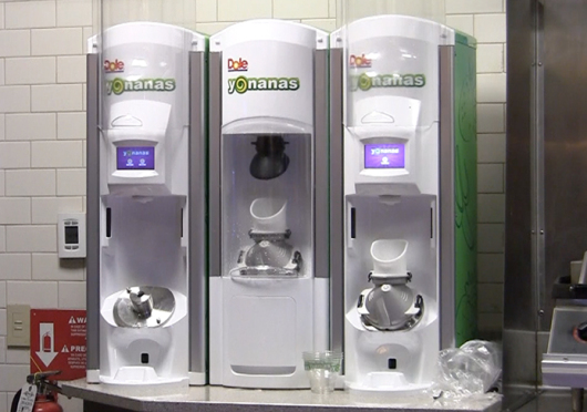 Yonanas machines, which debuted in several campus dining locations in August, were removed at the beginning of spring semester due to a lack of popularity. Credit: Courtesy of Lantern TV