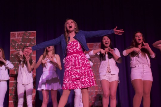 The cast of 'Legally Blonde' practices during a Tuesday dress rehearsal. Credit: Ogonna Ononye / Lantern reporter