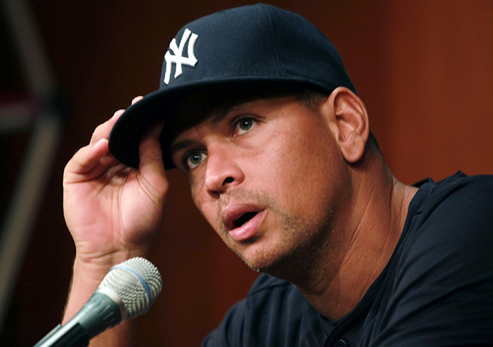 The New York Yankees' Alex Rodriguez speaks during press conference at US Cellular Field in Chicago on Aug. 5, 2013. Credit: Courtesy of TNS