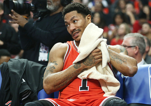 Chicago Bulls guard Derrick Rose is set to have knee surgery after tearing the meniscus in his right knee for the 2nd time. Credit: Courtesy of TNS