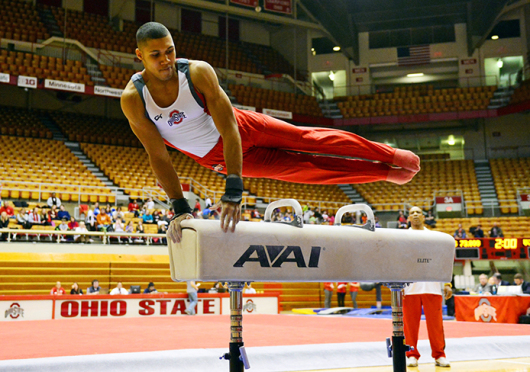 Junior all-around gymnast Jake Martin has claimed multiple accolades during his time as a Buckeye. Credit: Courtesy of OSU Athletics