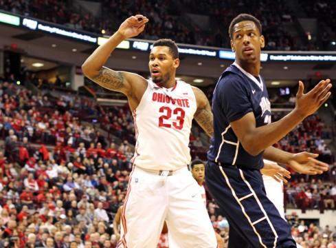 Senior center Amir Williams (23) averages just 6.8 points and 4.8 rebounds per game. Credit: Samantha Hollingshead / Lantern photographer