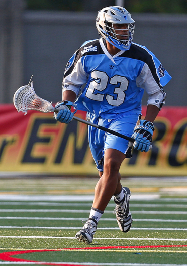 Former Buckeye Dominique Alexander picked up 31 ground balls and tallied 3 goals and 4 assists in his 2nd MLL season in 2014, helping The Ohio Machine to its first playoff apperance.  Credit: Getty Images