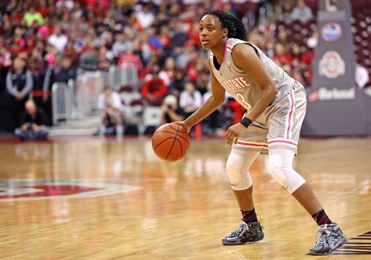 Freshman guard Kelsey Mitchell leads the OSU women's basketball team — and the nation — with 25.2 points per game this season. Credit: Mark Batke / Photo editor