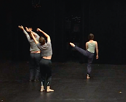 "Dancers for Tammy Carrasco's  ""Les Fauves (The Wild Beasts)"" during practice. The second part of ""Watch from Here"" runs Thursday through Saturday at Barnett Theatre in Sullivant Hall. Credit: Courtesy of Tammy Carrasco"