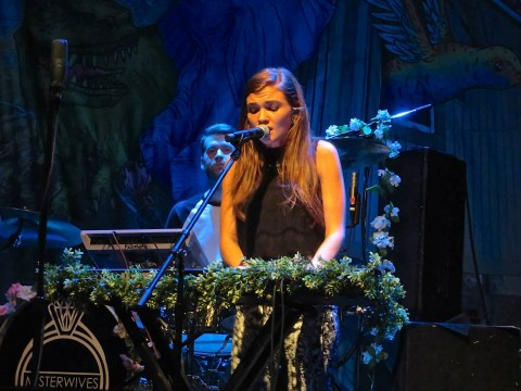 Mandy Lee, lead singer of MisterWives, plays at the Newport on Feb. 28.