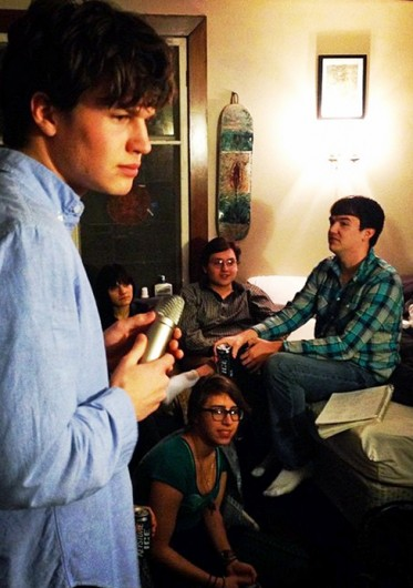 AROUSE president Ben McConnell and other AROUSE members gather Feb. 26 to record radio spots.  Credit: Courtesy of AROUSE.
