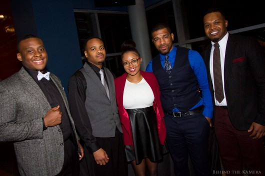 "Executive board of the Get Out Network at the screening of ""The Get Out Project"" which took place at Gateway Film Center on March 7.  Credit: Courtesy of Kyle Meeks"