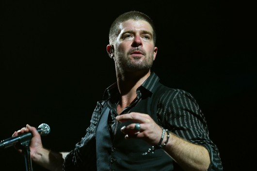 """Robin Thicke was ordered this week to pay $7.3 million in damages for infringing upon Marvin Gaye's No. 1 hit """"Got to Give It Up"""" with his song """"Blurred Lines."""" Credit: Courtesy of TNS"""