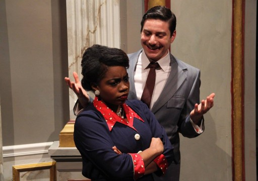 Tameishia Peterson as Wiletta and Daniel Shtivelberg as Manners in a scene from The Ohio State University Department of Theatre's production of Trouble in Mind. Credit: Courtesy of Matt Hazard