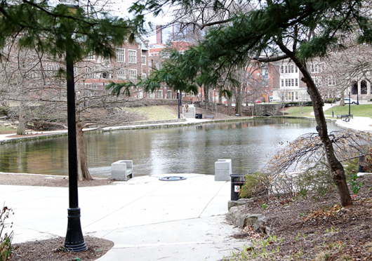 Mirror Lake is once again set to be closed off by fencing this week as work begins to make the landmark more sustainable. Credit: Mark Batke / Photo editor