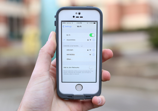 Of the more than 9,000 access points available for OSU's wireless network, a reported 1,925 are scheduled to be upgraded by the end of this semester. Photo illustration by Mark Batke