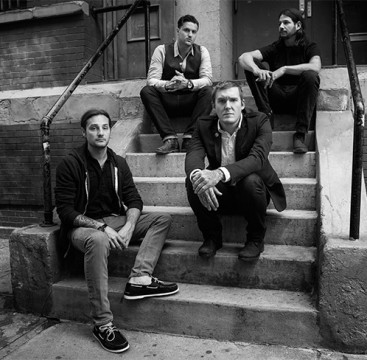 (From left) Alex Rosamilia, Alex Levine, Brian Fallon and Ben Horowitz of the Gaslight Anthem. Credit: Drew Gurian