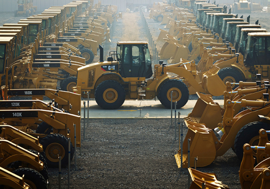 Caterpillar equipment is frequently seen around Ohio State's campus. Here, machines are shown in China. Credit: Courtesy of TNS