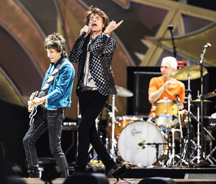 Concert Of The Rolling Stones With Mick Jagger , Keith Richard In Landgraff in The Netherlands on June 25, 2014. Credit: Courtesy of TNS.