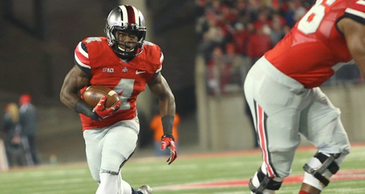 Sophomore running back Curtis Samuel (4) is one OSU player who coach Urban Meyer mentioned could see an increased role in the upcoming season. Credit: Mark Batke / Photo editor