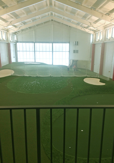 The Jane and Walt Dennis Golf Performance Center allows OSU's golf programs to practice year round, no matter the weather. Credit: Courtesy of OSU Athletics