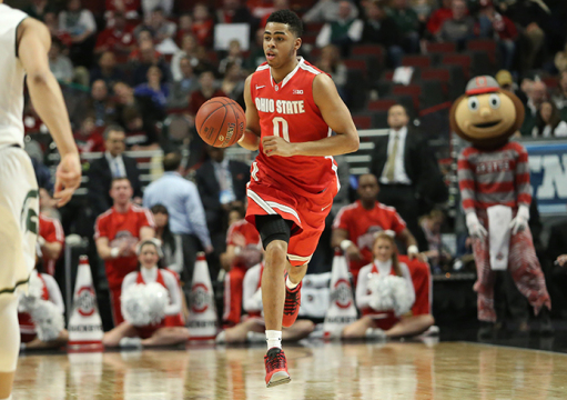 Freshman guard D'Angelo Russell has not announced whether or not he will opt out of his remaining collegiate eligibility in favor of the NBA, where he is widely speculated to be a lottery draft pick. Credit: Mark Batke / Photo editor